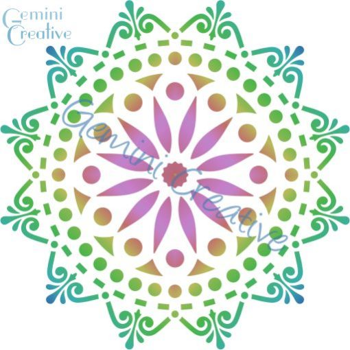Large doily mandala stencil, made in Australia by Gemini Creative