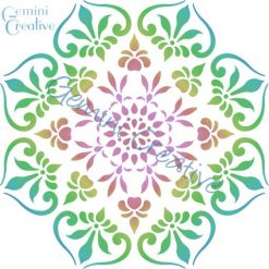 Australian made, large mandala stencil by Gemini Creative