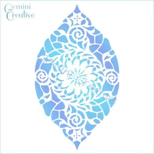 Arabian Swirl, decorative Moroccan stencil, made in Australia by Gemini Creative