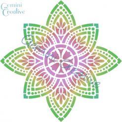 Large mandala medallion stencil, made in Australia by Gemini Creative