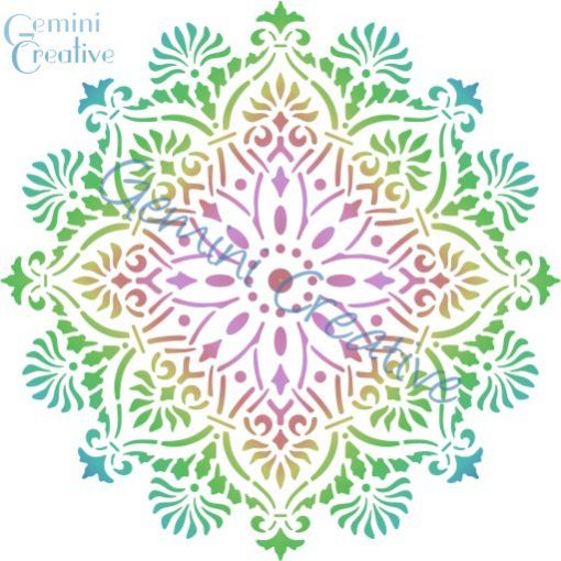 Large mandala doily stencil, made in Australia by Gemini Creative