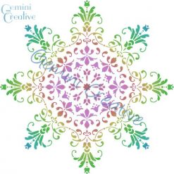 Large decorative mandala stencil, made in Australia by Gemini Creative.