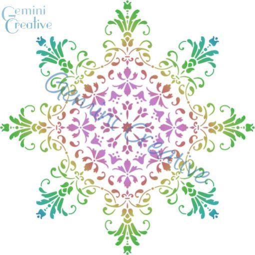 Large decorative mandala stencil, made in Australia by Gemini Creative.
