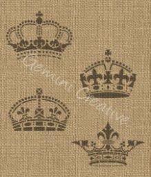 Crown stencils