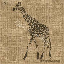 Giraffe stencil. Laser cut, reusable stencil designed for painted furniture and fabric.