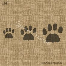 Cat paw print stencil. Laser cut, reusable stencils designed for furniture projects.
