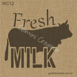 Fresh Milk Sign Stencil