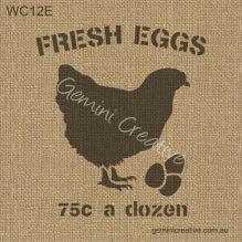 Fresh Eggs Stencil