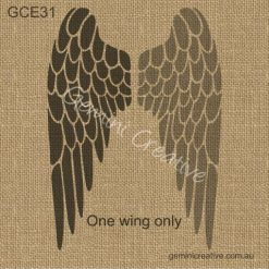 Angel wing stencil. Laser cut, reusable, furniture stencil.