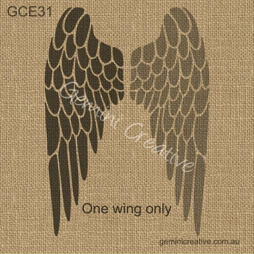 Angel wing stencil. Laser cut, reusable, furniture stencil.