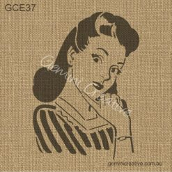 Retro Lady Stencil