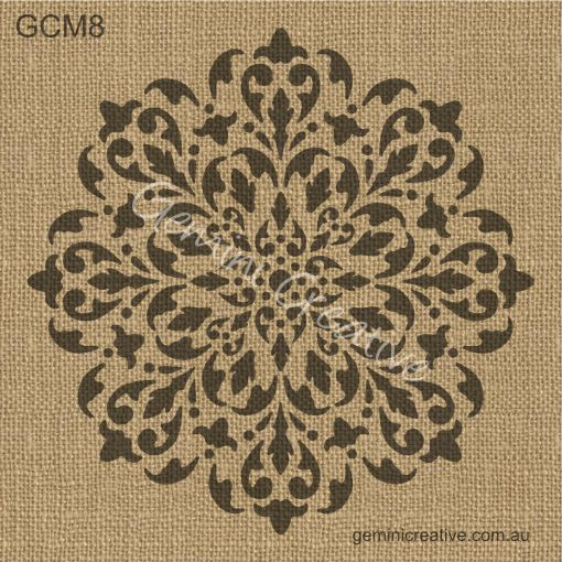 Australian made, mandala stencil. Laser cut, reusable stencil, designed for decorating walls, fabric and painted furniture.