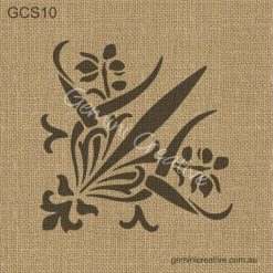 Australian made, floral corner stencil. Laser cut, reusable stencil, designed for decorating walls, fabric and painted furniture.