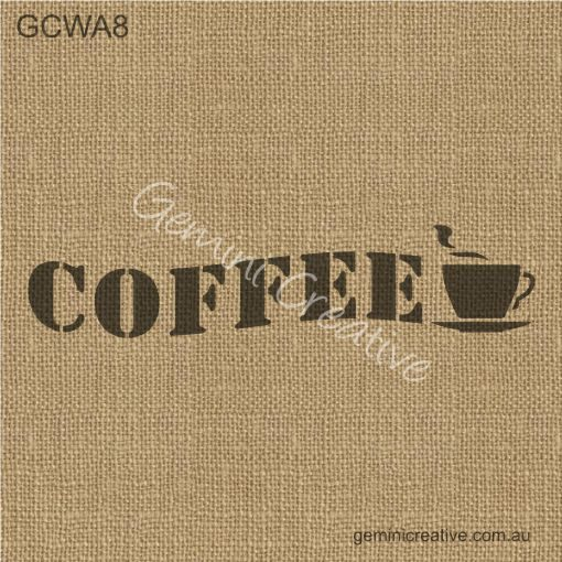 Coffee Sign Stencil