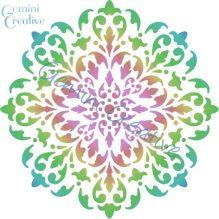 Large mandala doily stencil, designed and made in Australia by Gemini Creative.