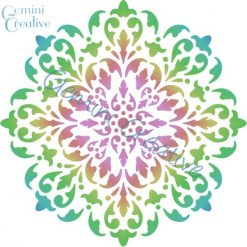 Large mandala doily stencil, designed and made in Australia by Gemini Creative.