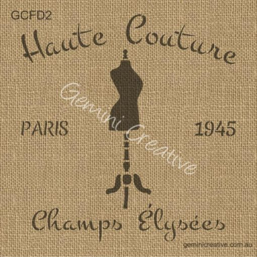 Haute couture from the French range of Australian made furniture stencils.