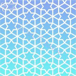 Moroccan stars stencil, made in Australia by Gemini Creative