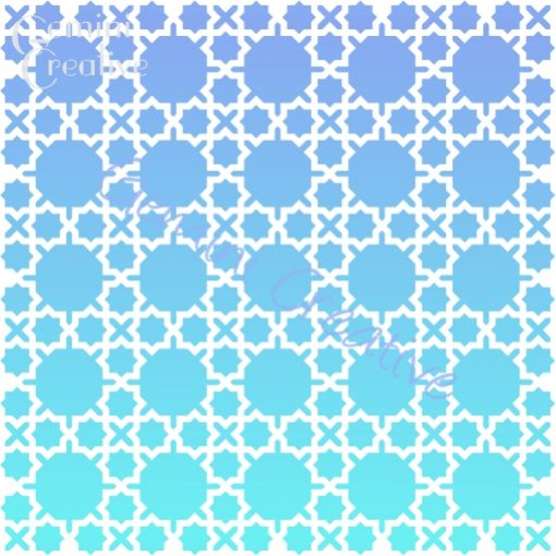 Zagora Moroccan stencil, made in Australia by Gemini Creative