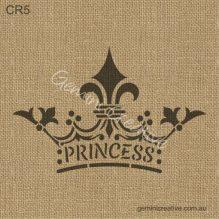 Princess crown stencil, made in Australia by Gemini Creative