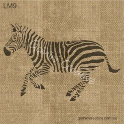 Zebra stencil by Gemini Creative, Australian made furniture and craft stencils